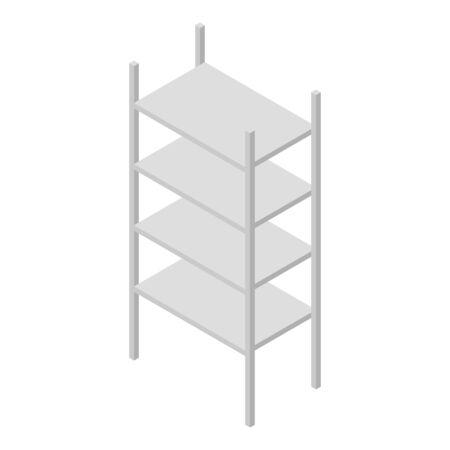Metal rack icon, isometric style  イラスト・ベクター素材
