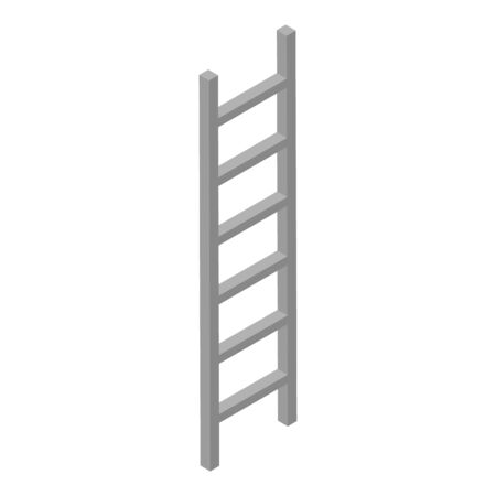 Metal ladder icon, isometric style