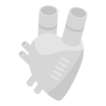 Artificial heart icon. Isometric of artificial heart vector icon for web design isolated on white background Illustration
