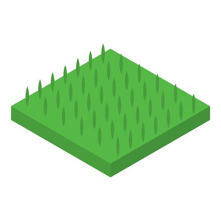 Green plant soil icon. Isometric of green plant soil vector icon for web design isolated on white background