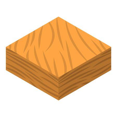 Icône de sol de sable. Isométrique de l'icône vecteur du sol de sable pour la conception web isolé sur fond blanc