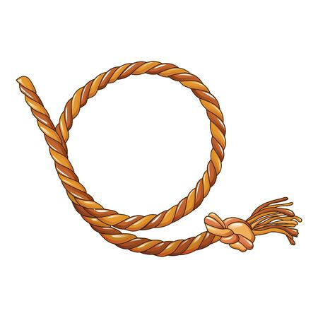 Cowboy rope icon. Cartoon of cowboy rope vector icon for web design isolated on white background