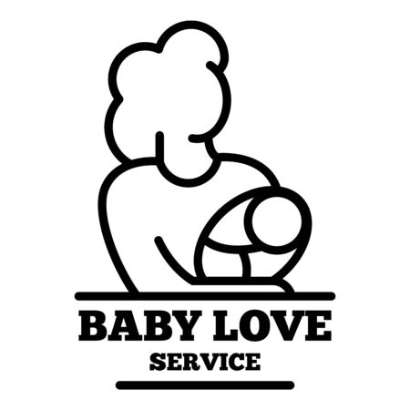 Baby love service icon, outline style Иллюстрация