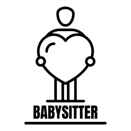 Babysitter icon. Outline babysitter vector icon for web design isolated on white background