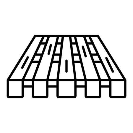 Wood pallet icon, outline style Foto de archivo - 128662749