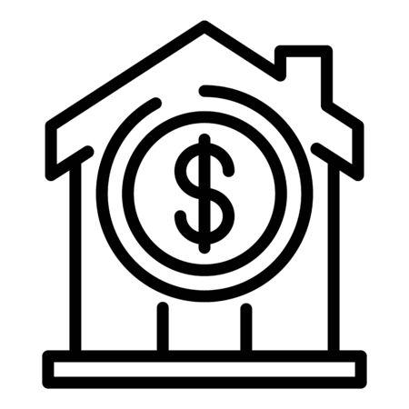 Leasing house icon, outline style Ilustração