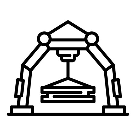 Big industrial crane icon, outline style
