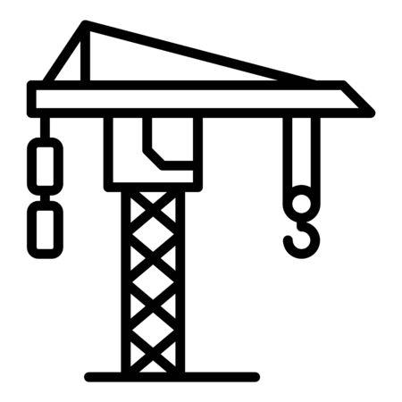 Ship crane icon. Outline ship crane vector icon for web design isolated on white background Illustration