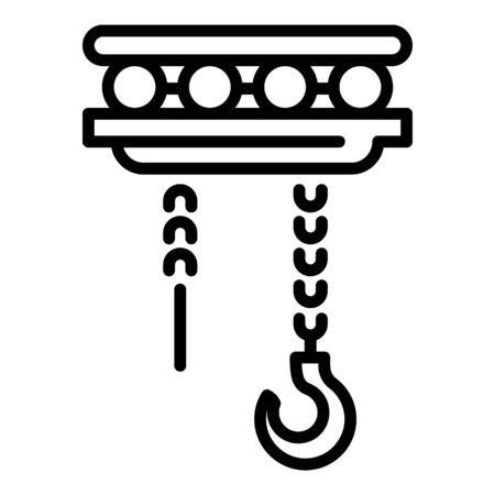 Heavy crane icon, outline style