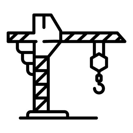 Crane icon, outline style