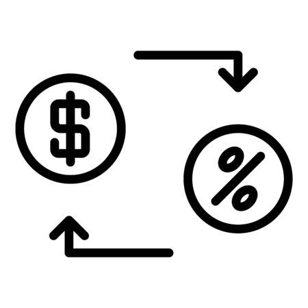 Lease money convert icon, outline style
