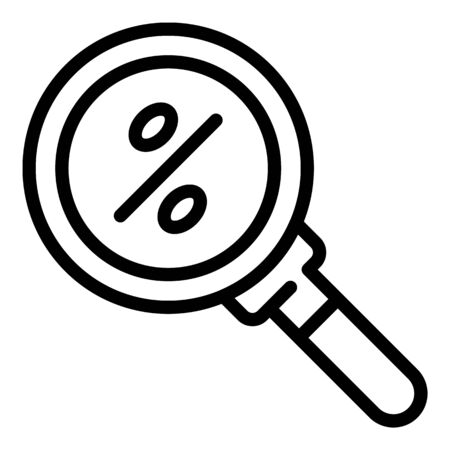Search good lease percent icon, outline style