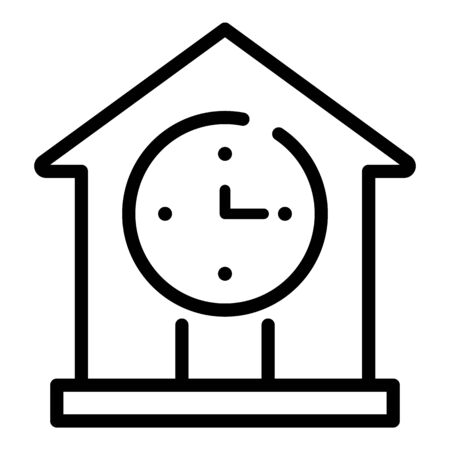 Lease new house icon, outline style Illustration