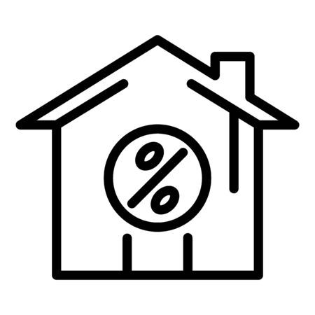 Purchase leasing house icon, outline style