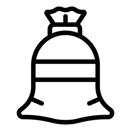 Textile sack icon. Outline textile sack vector icon for web design isolated on white background