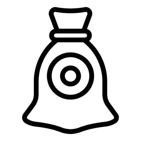 Canvas sack icon, outline style