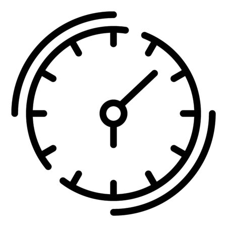 Quest clock icon. Outline quest clock vector icon for web design isolated on white background Banque d'images - 130256592