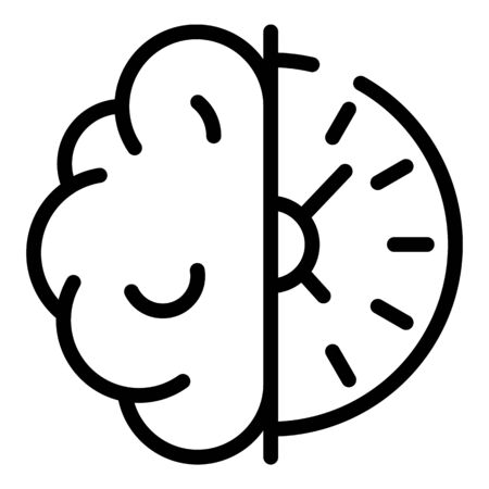 Brainstorming quest icon, outline style