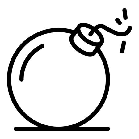 Quest bomb icon, outline style
