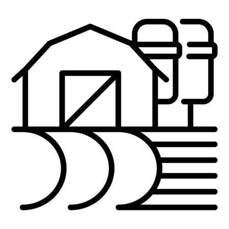 Farm storage icon, outline style Illustration