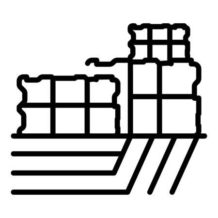 Farmer stock icon, outline style
