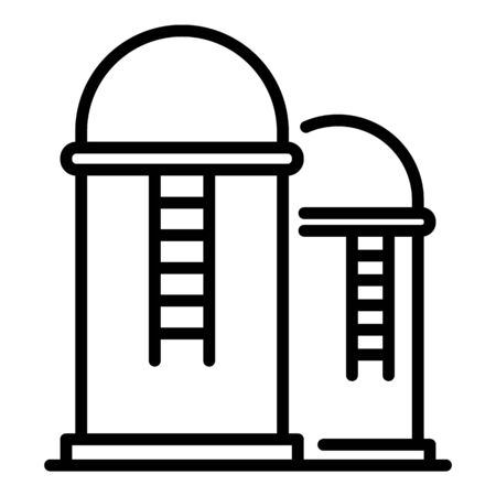Farm grain storage icon, outline style 向量圖像