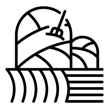Farm hay icon. Outline farm hay vector icon for web design isolated on white background Ilustração