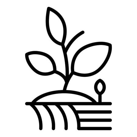 Farm plant icon. Outline farm plant vector icon for web design isolated on white background Stock Illustratie