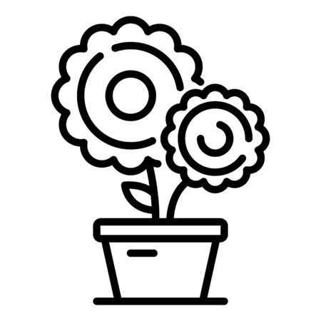 Farm flower pot icon, outline style