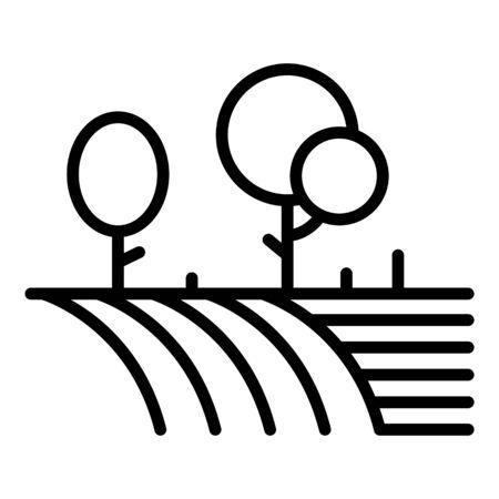 Farm garden icon. Outline farm garden vector icon for web design isolated on white background Illustration