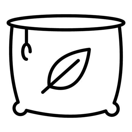 Farm cauldron icon. Outline farm cauldron vector icon for web design isolated on white background