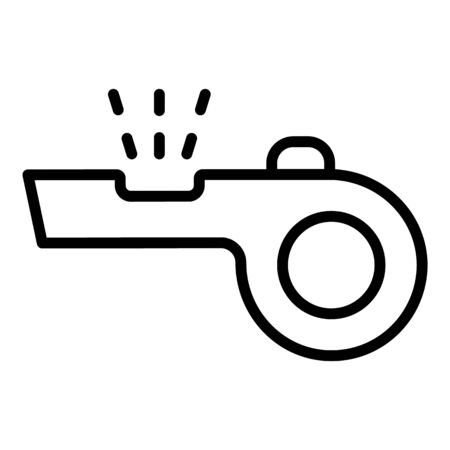 Sport whistle icon, outline style