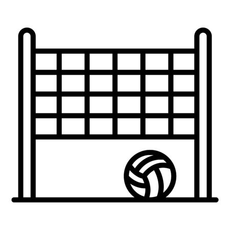 Brazil beach volleyball icon. Outline Brazil beach volleyball vector icon for web design isolated on white background Çizim