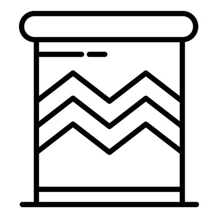 Ornamental brazil drums icon, outline style