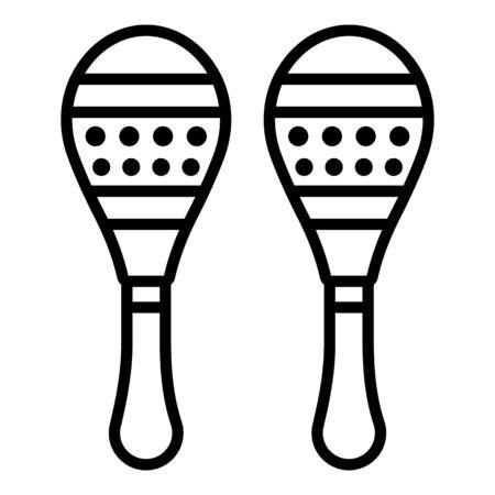 Brazil maracas icon, outline style
