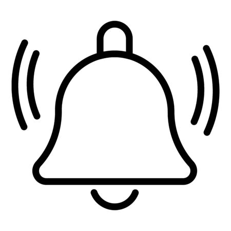 Icône de cloche de notification, style de contour