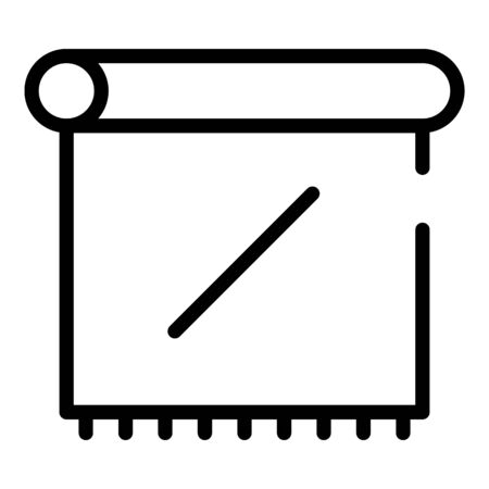 Paper towel icon, outline style
