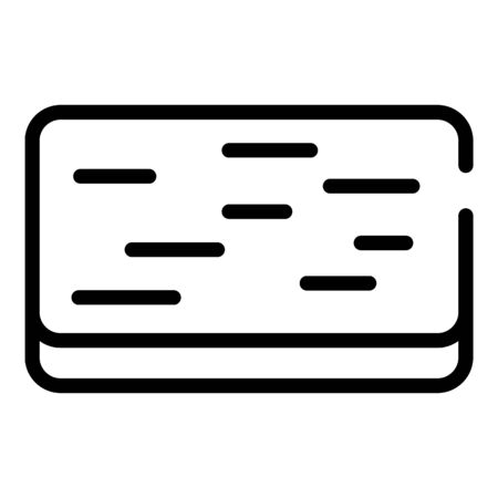Doormat icon, outline style Ilustrace
