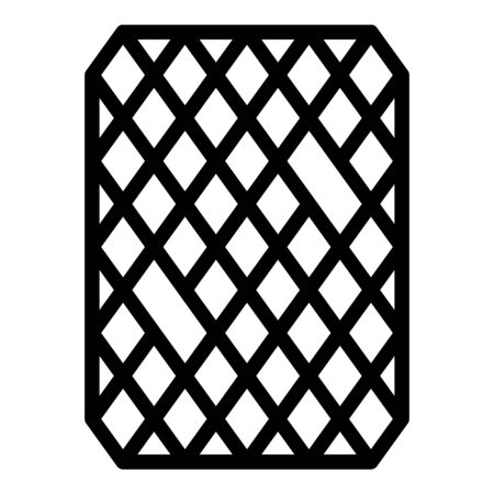 Rubber doormat icon, outline style Ilustrace
