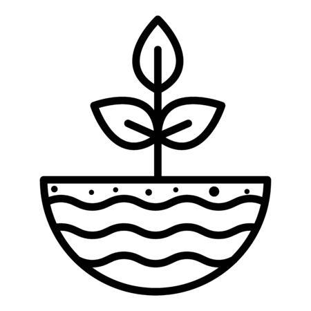 Single plant icon, outline style