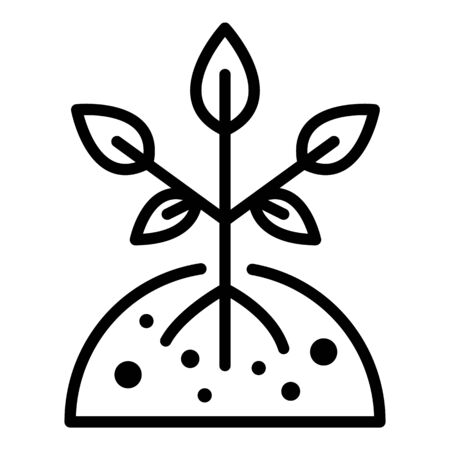Young tree icon, outline style