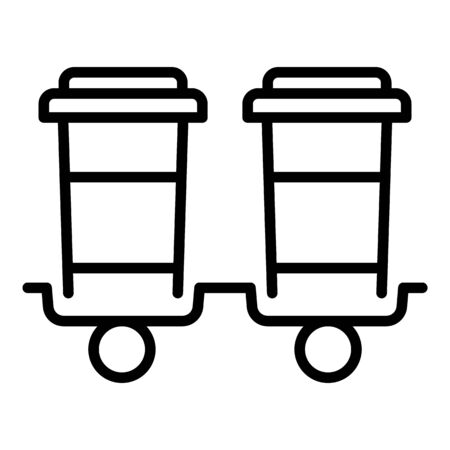 Beverage delivery icon, outline style