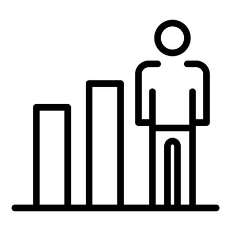 Human ability growth icon, outline style