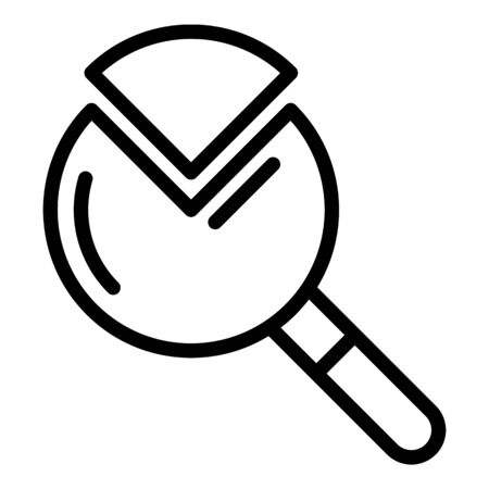 A quarter of the magnifier icon, outline style