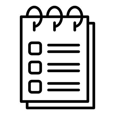 Training program icon. Outline training program vector icon for web design isolated on white background