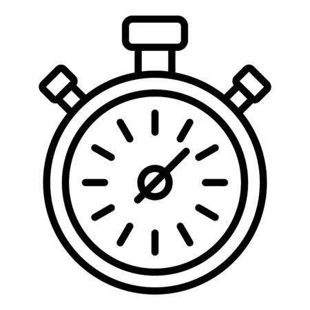 Icono de cronómetro. Esquema de cronómetro icono vectoriales para diseño web aislado sobre fondo blanco.