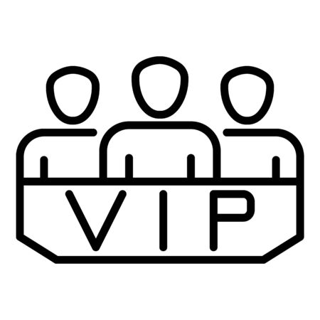 VIP lodge icon, outline style