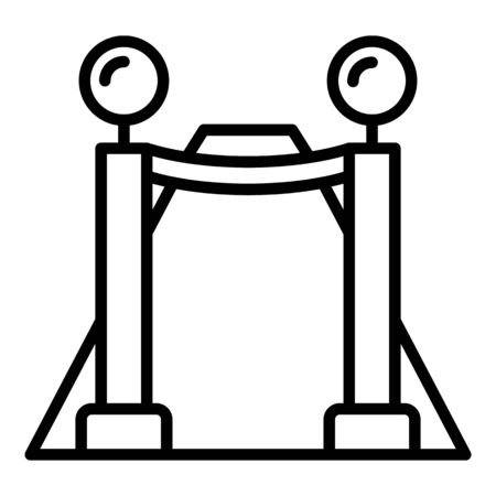 VIP fence icon, outline style