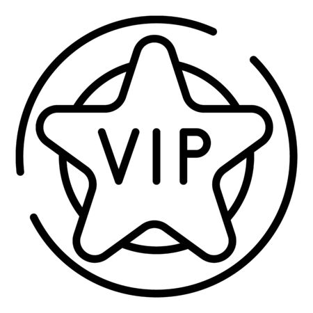 VIP star icon, outline style
