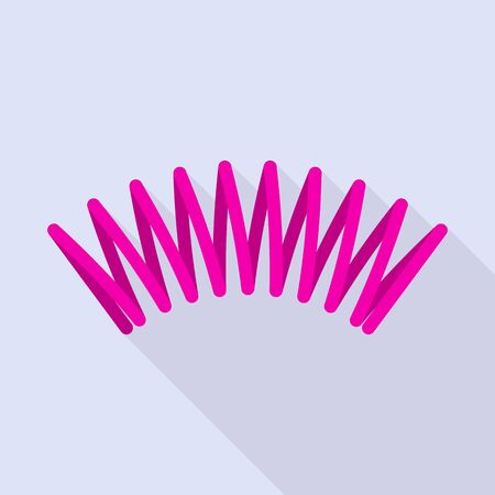 Pink spring icon. Flat illustration of pink spring vector icon for web design  イラスト・ベクター素材